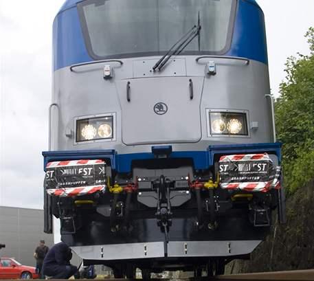 Nová lokomotiva Škoda může jet rychlostí 200 kilometrů v hodině