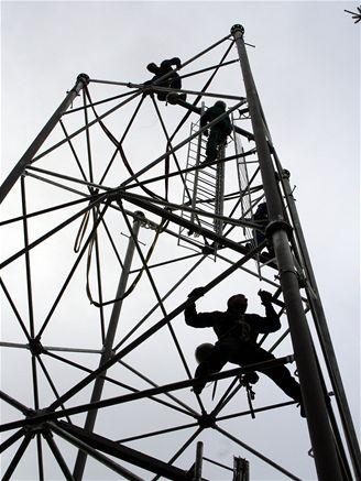 Stavba BTS Vodafone ve Zbožici na Havlíčkobrodsku