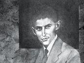 Jiří Mocek - Franz Kafka (kresba kombinovanou technikou na papíře)