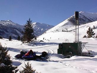Pozemní generátor kondenzacnich jader v zimním středisku