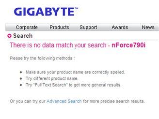 Gigabyte ruší nForce 790i