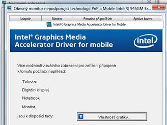 Menu grafick� karty Intel