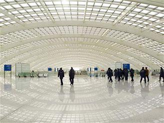 Termiál 3 Pekingského letiště - odletová hala