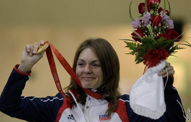Kateřina Emmons se zlatou olympijskou medailí