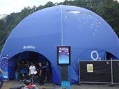 Stánek O2 Bubble na letošním Sázavafestu