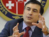 Michael Saakašvili na setkání bezpečnostní rady