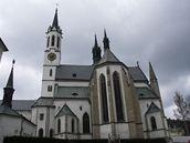 Kostel Nanebevzetí panny Marie ve Vyšším Brodě (pohled od východu)
