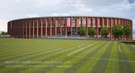Vizualizace nového fotbalového stadionu za Lužánkami