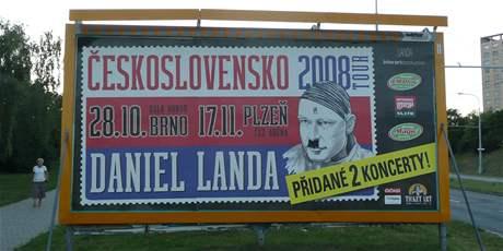 Billboard v Brně: Daniel Landa ist Adolf Hitler ;)