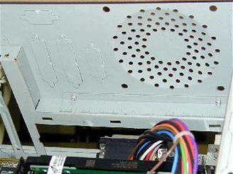 Místo pro ventilátor v Case