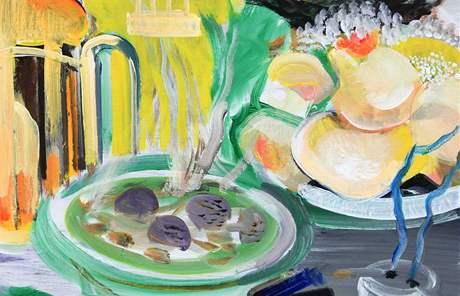 Vladimír Franz namaloval jídla z jídelního lístku