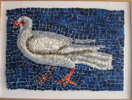 Kopie byzantské mozaiky v kostele v Ravenně