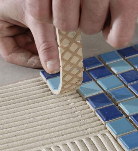 Práce s mozaikou je velmi jednoduchá