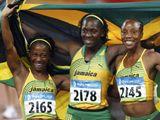 Trio jamajských medailistek ze stovky