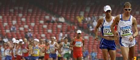 Finiš sprinterské štafety