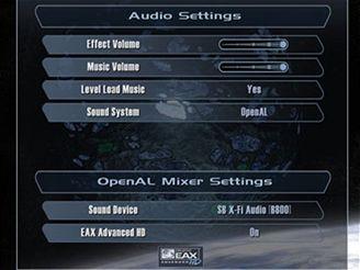 Nastavení EAX 4.0