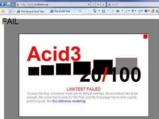 IE8 beta 2: Acid3