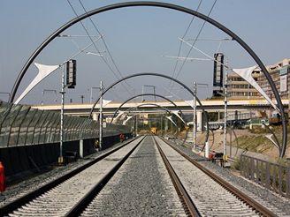 Nov� spojen� -tramvajov� most na Krejc�rku z pohledu strojvedouc�ho