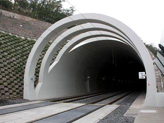 Nové spojení - východní portál severního tunelu