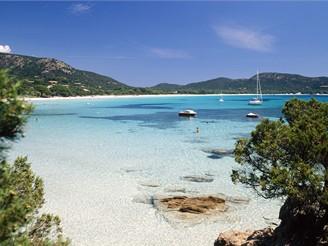 Korsika, pláž Palombaggia
