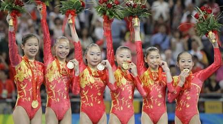 Vítězné čínské gymnastky