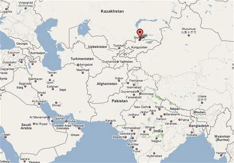 Mapa Kyrgystánu