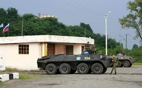 Ruští vojáci v Gruzii (21. srpna 2008)