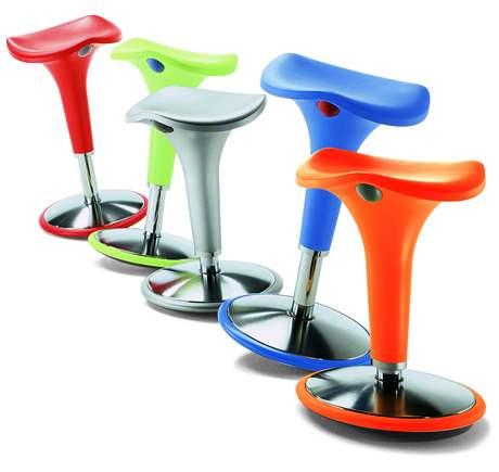 Pohupujícící se židle nabízejí i nastavení výšky