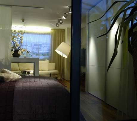 Byt vytvořený pro Rezidenci Kavčí hory v showroomu Stopka