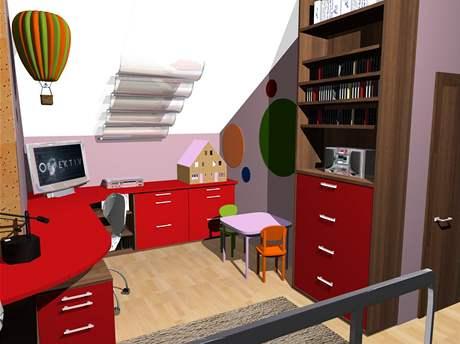 Čtyři varianty dětského pokoje pro malou školačku