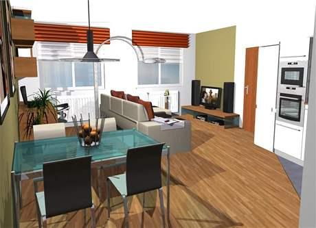 Tři varianty obývací kuchyně