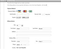 AppStore registrace s kartou