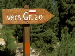 Korsika, směrovka GR20