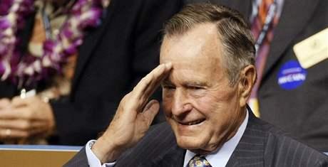 Sjezd amerických republikánů v Minnesotě. Bývalý prezident George Bush starší (2. září 2008)