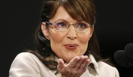 Sarah Palinová na republikánském sjezdu v Minnesotě (3. září 2008)