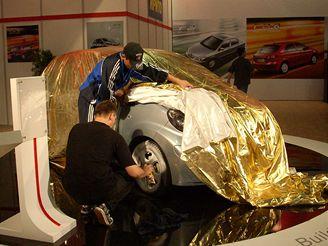 Autosalon Moskva - BYD F0 (kopie Toyoty Aygo)
