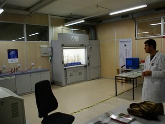 Celkový pohled na laboratoř - mokrá část procesu