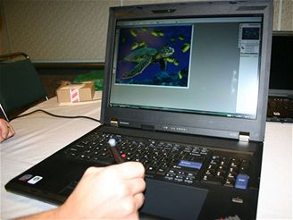Lenovo ThinkPad W700 - používání digitizeru