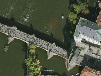 Ukázka snímku z mapy na Google Earth