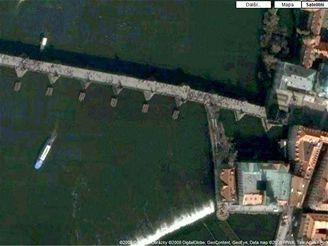Ukázka snímku z mapy na mapy.google.cz