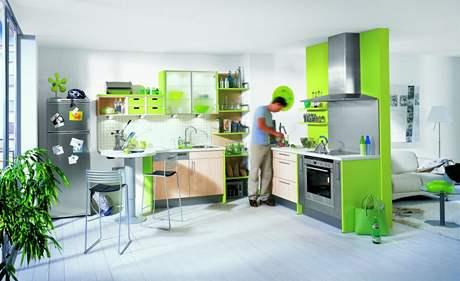 Kuchyňskou část je vhodné umístit co nejblíže oknu