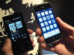 HTC Touch Diamond a Apple iPhone: který se ovládá lépe?