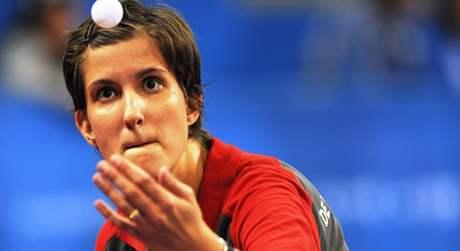 Stolní tenistka Michala La Bourdonney