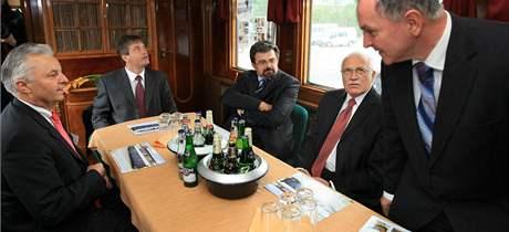 Prezidentské kupé T. G Masaryka na brněnském výstavišti