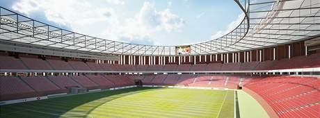 Vizualizace nového fotbalového stadionu 1. FC Brno za Lužánkami