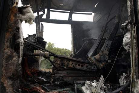 U Kyjova shořel kamion s pivem