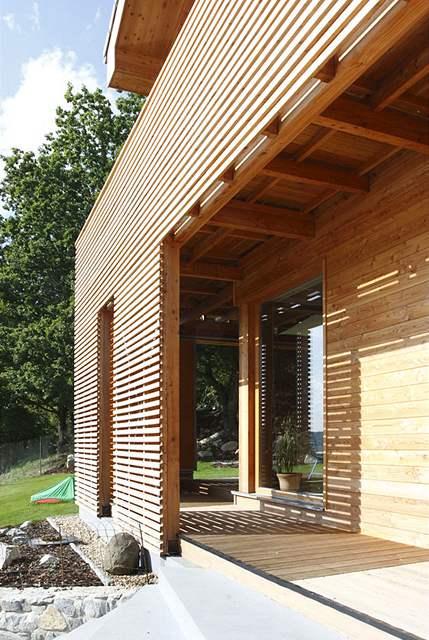 Dřevěné prvky získají časem jen nepatrnou patinu