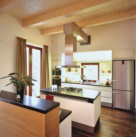 Ostrůvková kuchyně s přímým odtahem digestoře