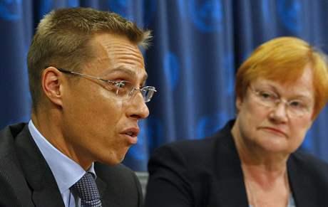 Alexander Stubb a Tarja Halonenová