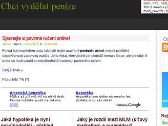 Chcivydělatpeníze.cz